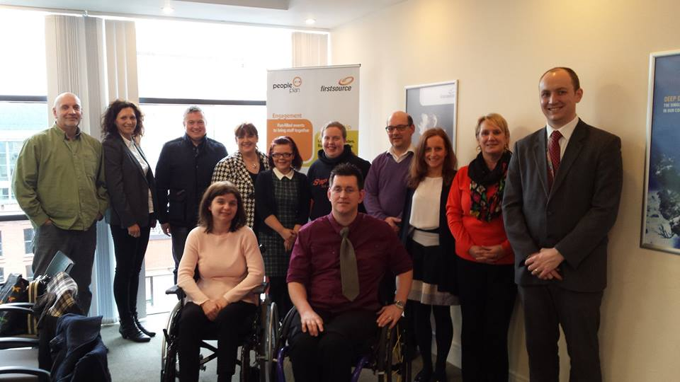 Trainees and staff from ClanryeIT and Clanrye Retail Social Enterprise
